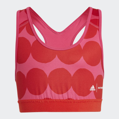 Girls Fitness Og Træning Pink Marimekko Believe This Primegreen AEROREADY Training bh