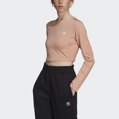 Kvinder Originals Pink LOUNGEWEAR Cropped Long Sleeve top