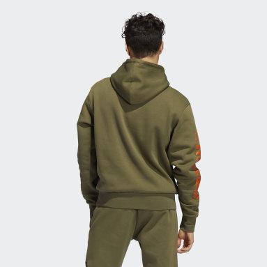 Sweat-shirt à capuche Circle adidas Vert Hommes Originals