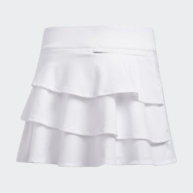 Girls Golf White Ruffled Skort