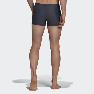 Men Swimming Grey Semi 3-Stripes Swim Briefs