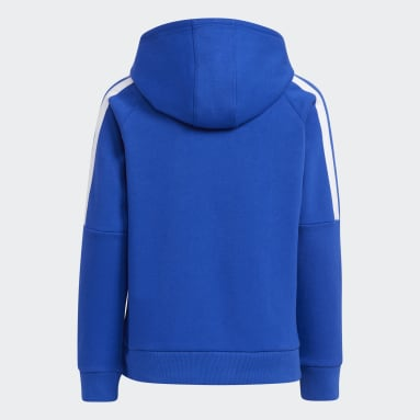 Youth Training Blue Bold 3-Stripes Hoodie