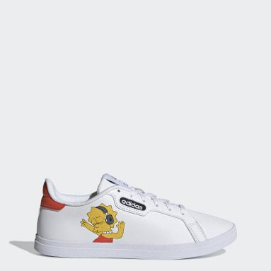 Zapatillas Courtpoint Base Los Simpsons Blanco Mujer Diseño Deportivo