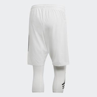 Men Football White TAN Tracksuit Bottoms