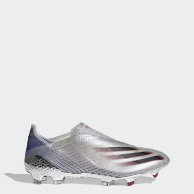 Men Football Silver X Ghosted+ Firm Ground Boots