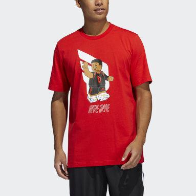 Men Basketball Red adidas x LEGO® Tee Damian Lillard