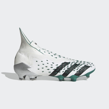 Football White Predator Freak+ EQT Firm Ground Boots