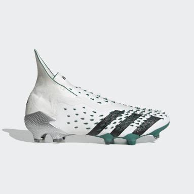 Zapatos de Fútbol Predator Freak+ EQT Terreno Firme Blanco Hombre Fútbol
