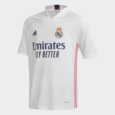 Děti Fotbal bílá Domácí souprava Real Madrid 20/21 Youth