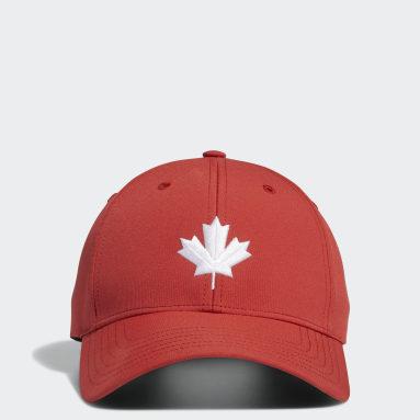 Men Golf Red Golf Performance Hat