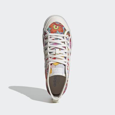 Women Originals White Nizza Platform Mid Shoes