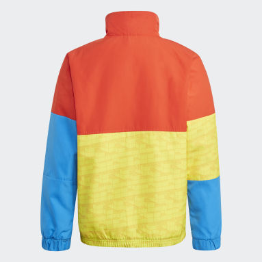 Kids Lifestyle Yellow adidas x Classic LEGO® Bricks Half-Zip Warm Jacket