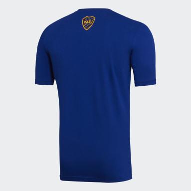 Remera Básquet Boca Juniors Azul Hombre Básquet