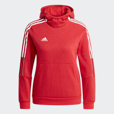 Sweat-shirt à capuche Tiro 21 Rouge Enfants Football