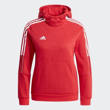 Børn Fodbold Rød Tiro 21 Sweat hættetrøje