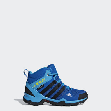 Kids 4-8 Years TERREX Blue AX2R ClimaProof Mid Shoes