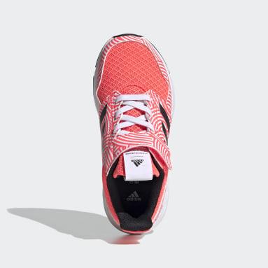 Kids Running Pink FortaFaito Tokyo Top Strap Shoes