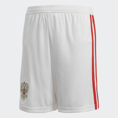 Kids Football White Russia Home Shorts