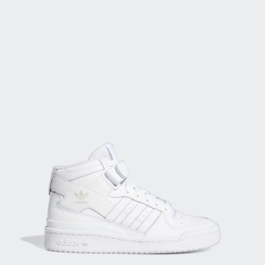 Youth Originals White Forum Mid Shoes