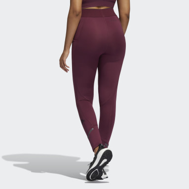 Tight lunghi Techfit COLD.RDY Bordeaux Donna Running