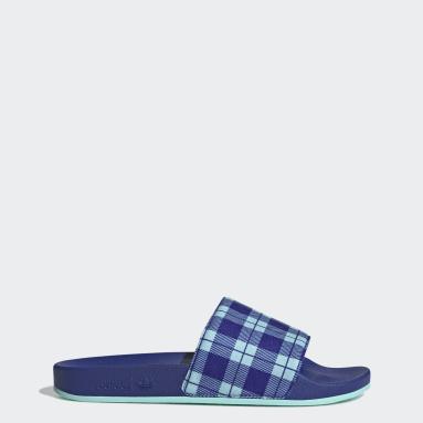 Men Originals Blue Adilette Slides