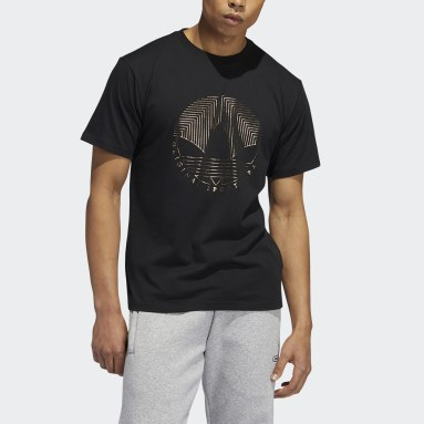 Muži Originals černá Tričko Deco Trefoil