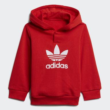 Conjunto sudadera con capucha y pantalón Adicolor Rojo Niño Originals