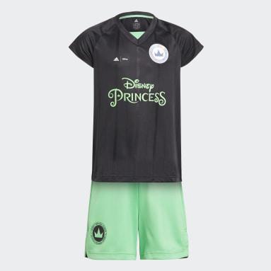 Conjunto Disney Princesses Football Negro Niña Gimnasio Y Entrenamiento