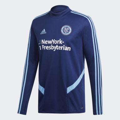Sudadera entrenamiento New York City FC Azul Hombre Fútbol