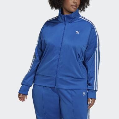 Women Originals Blue Adicolor Classics Firebird Primeblue Track Top (Plus Size)