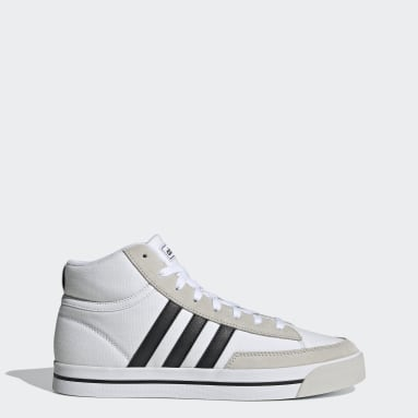 Men Sport Inspired White Retrovulc Mid Shoes