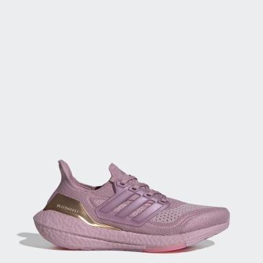 ผู้หญิง วิ่ง สีชมพู รองเท้า Ultraboost 21