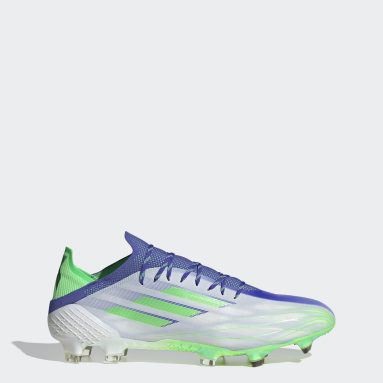 Soccer White X Speedflow.1 Adizero Firm Ground Cleats