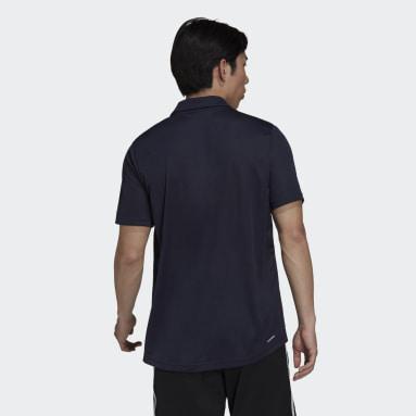 Men Training Blue AEROREADY Designed To Move Sport Polo Shirt