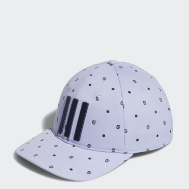 Men's Golf Purple Allover Print Shield Cap