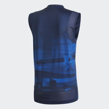 Men's Volleyball Blue USA Volleyball Primeblue Jersey