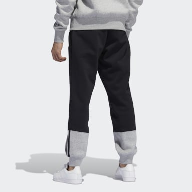 Men Originals Black adidas SPRT 3-Stripes Split Sweat Pants
