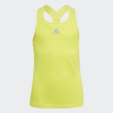 Girls Tennis Yellow HEAT.RDY Primeblue Tennis Y-Tank Top