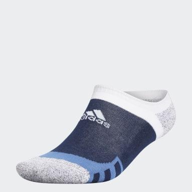 Men Golf Blue Tour360 No-Show Socks