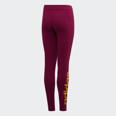 Mallas Essentials Linear Burgundy Niña Sportswear