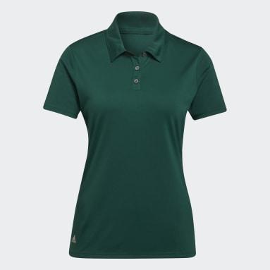 Ženy Golf zelená Polokošile Performance