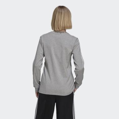 T-shirt Adicolor Classics Long Sleeve Gris Femmes Originals