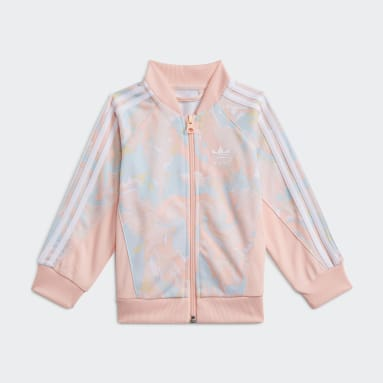 Meisjes Originals Roze Marble Print SST Setje