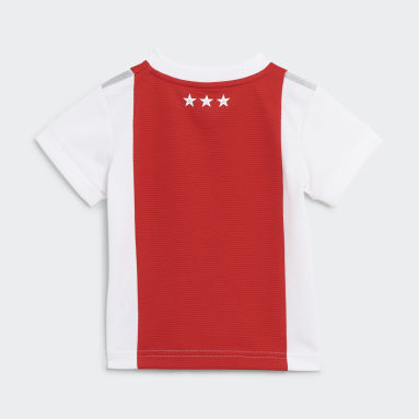 Kinder Fußball Ajax 21/22 Mini-Heimausrüstung Weiß