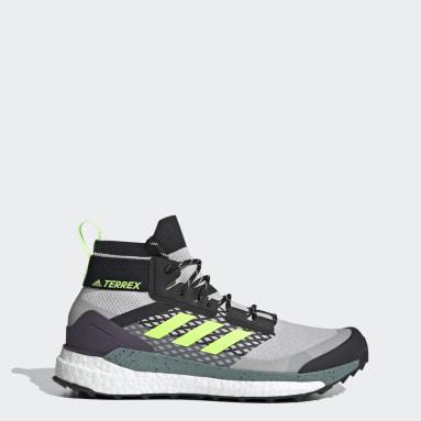 Men TERREX Grey Terrex Free Hiker Hiking Shoes