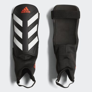 Football Black Everclub Shin Guards