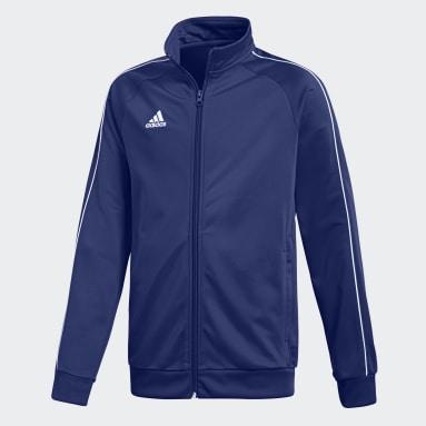 Kinder Fitness & Training Core 18 Jacke Blau
