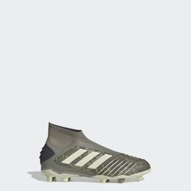 Kids Football Green Predator 19+ Firm Ground Boots