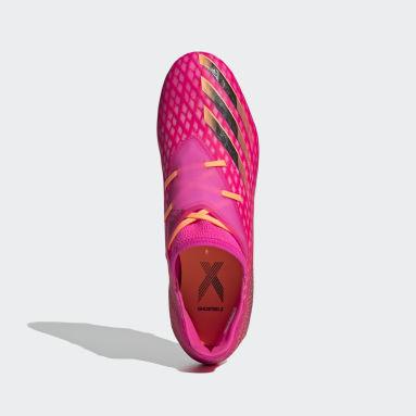 Bota de fútbol X Ghosted.2 césped natural seco Rosa Hombre Fútbol