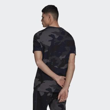 T-shirt Graphics Camo Allover Print Bleu Hommes Originals